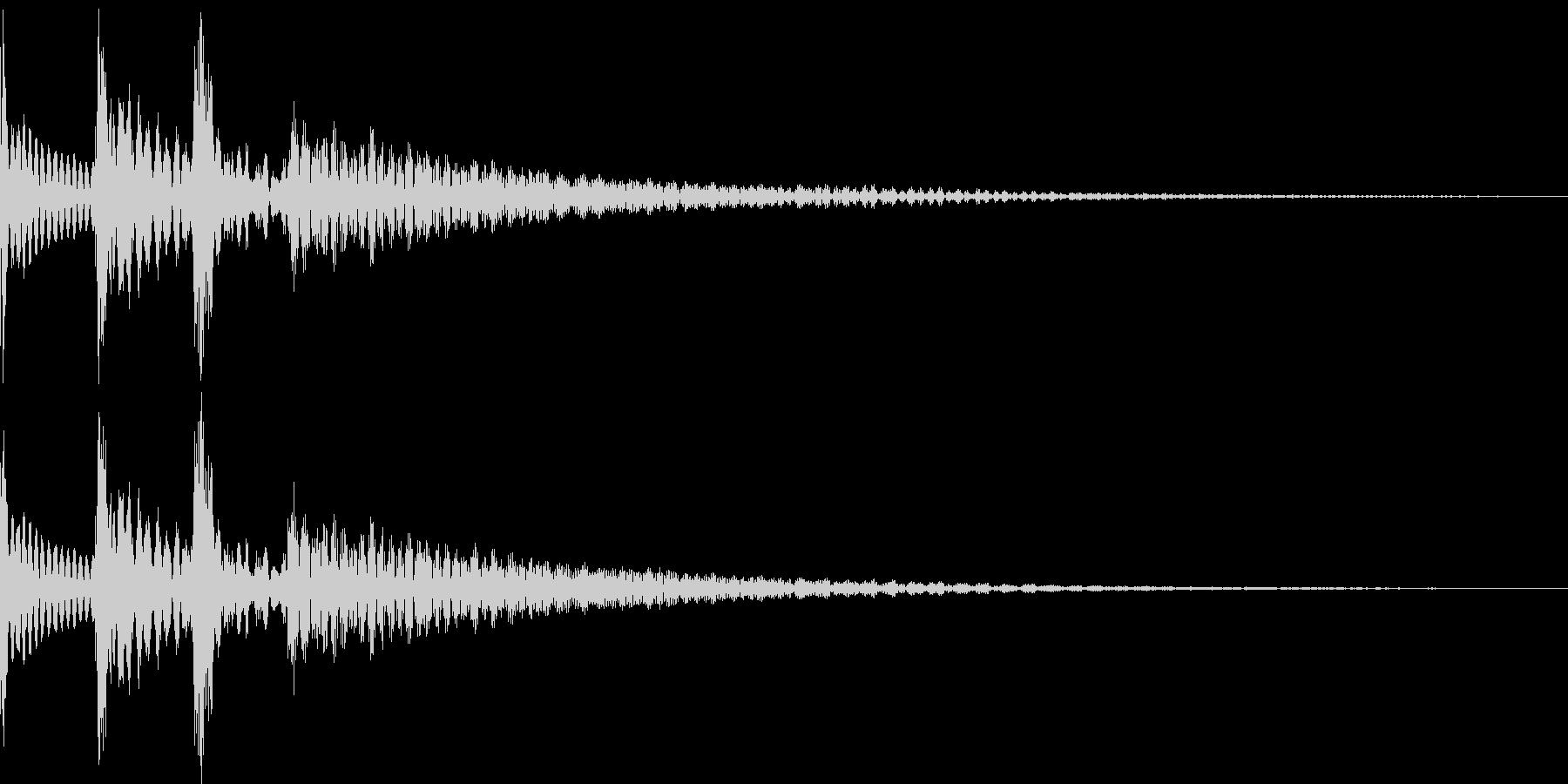 ポロロン(スワイプ 下降 アイテム表示)の未再生の波形