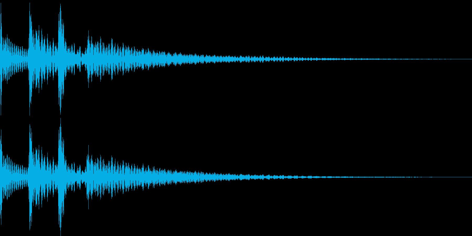 ポロロン(スワイプ 下降 アイテム表示)の再生済みの波形