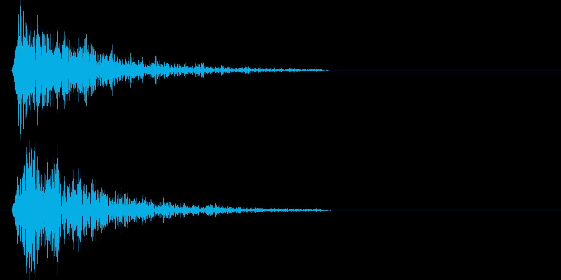 ブォーン(爆発、衝撃波)の再生済みの波形