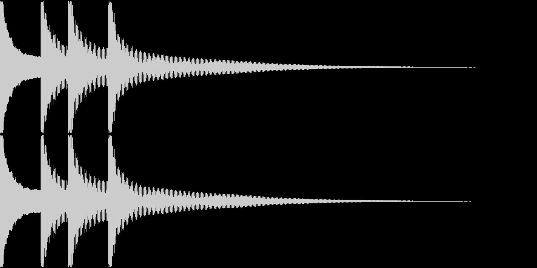 正解音の未再生の波形