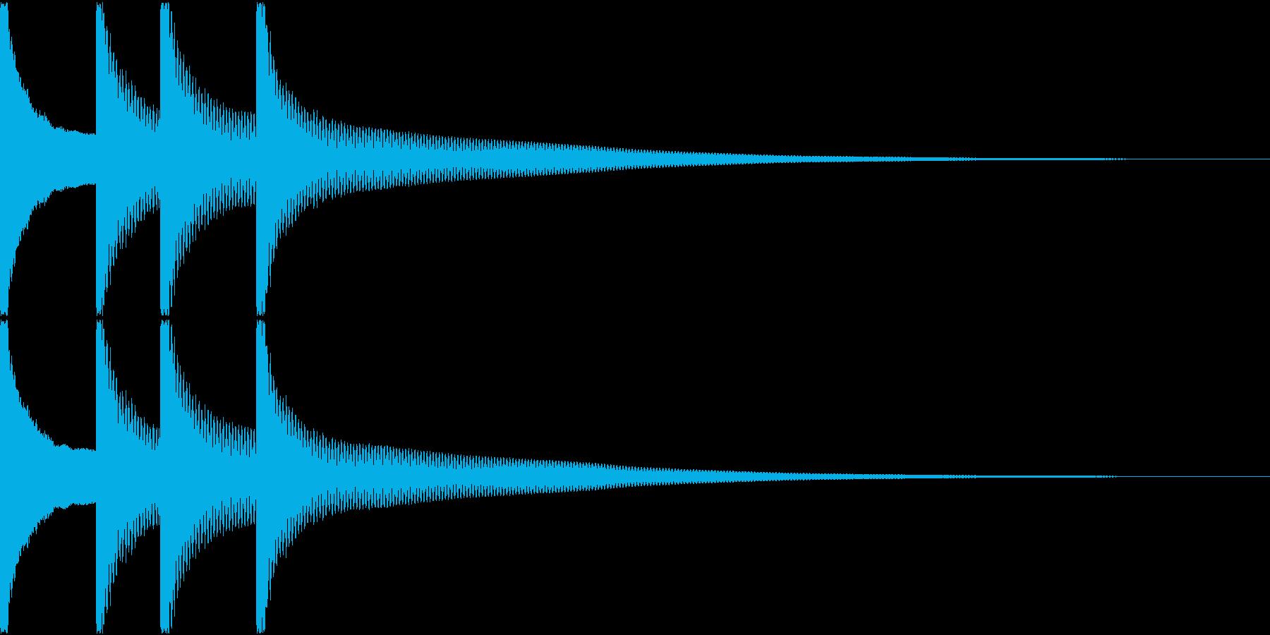 正解音の再生済みの波形