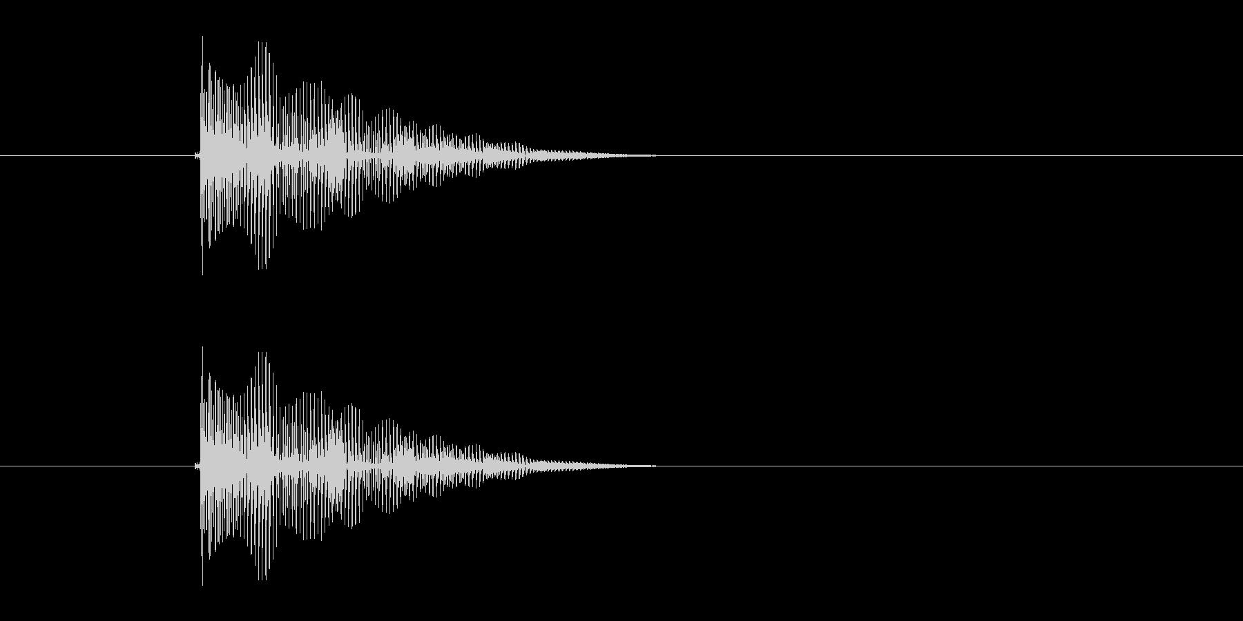 ボヨヨヨーン(跳ねる、コミカル)の未再生の波形