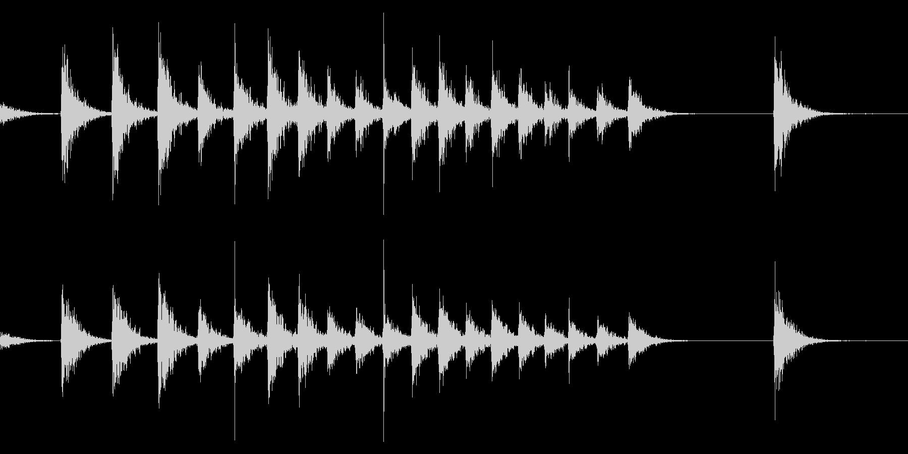拍子木きざみ上げ_01の未再生の波形