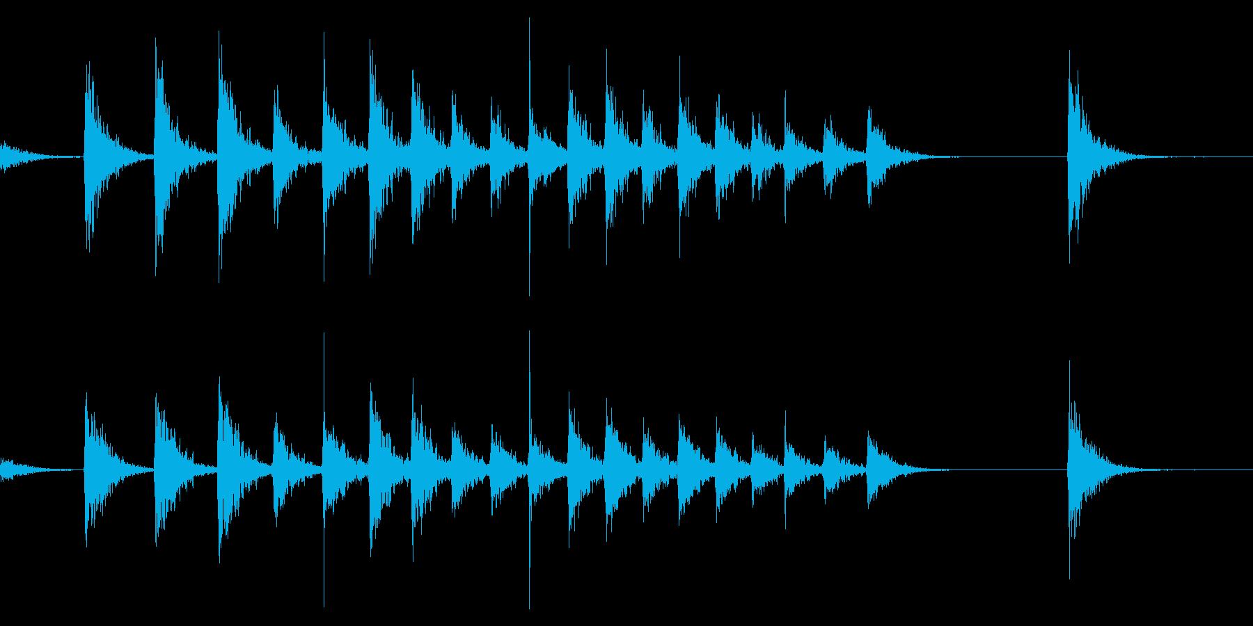 拍子木きざみ上げ_01の再生済みの波形