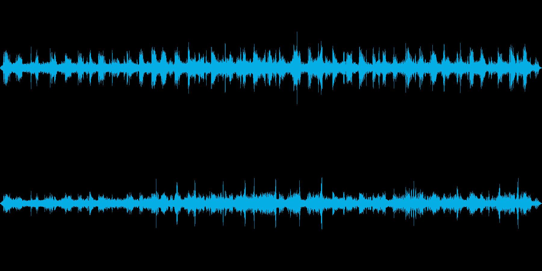 早朝の野鳥コーラス(コーラスに包まれる)の再生済みの波形