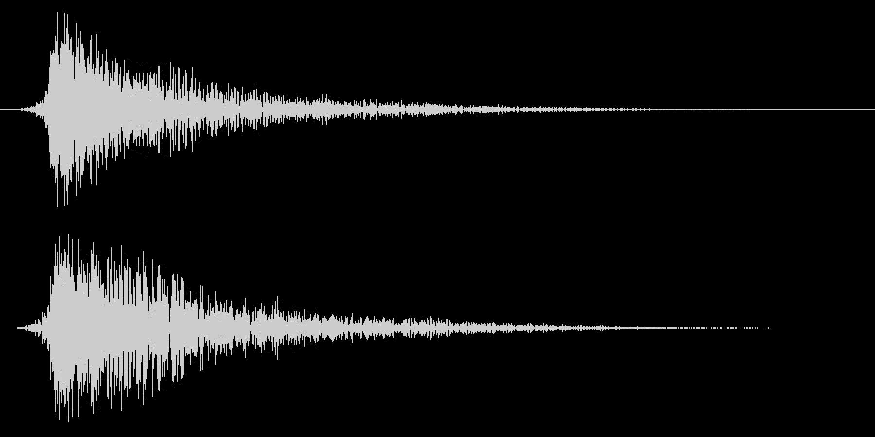 シネマティック ヒット インパクト11cの未再生の波形