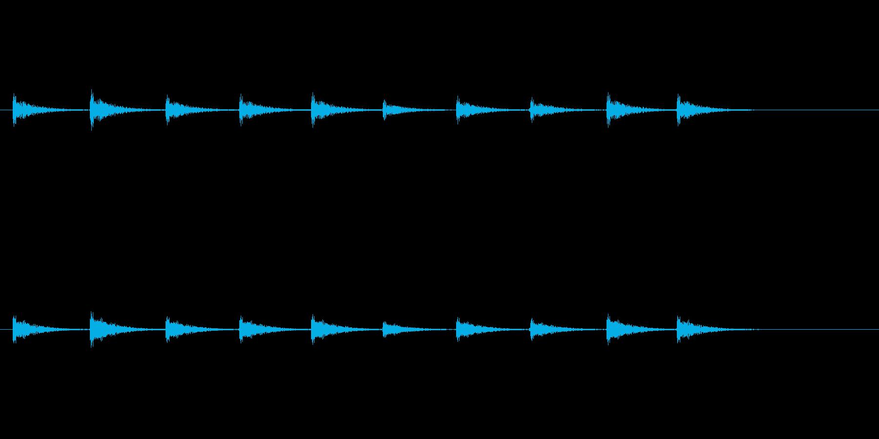 【足音03-6】の再生済みの波形