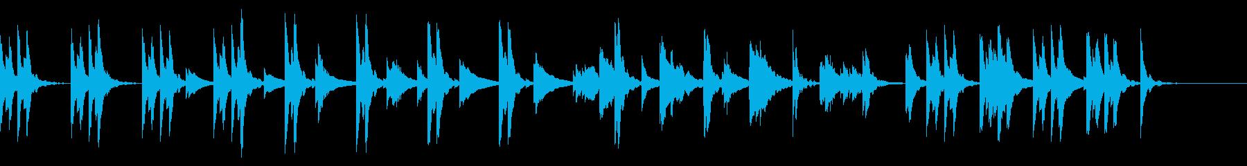 不安、自問の場面のシンプルな曲の再生済みの波形