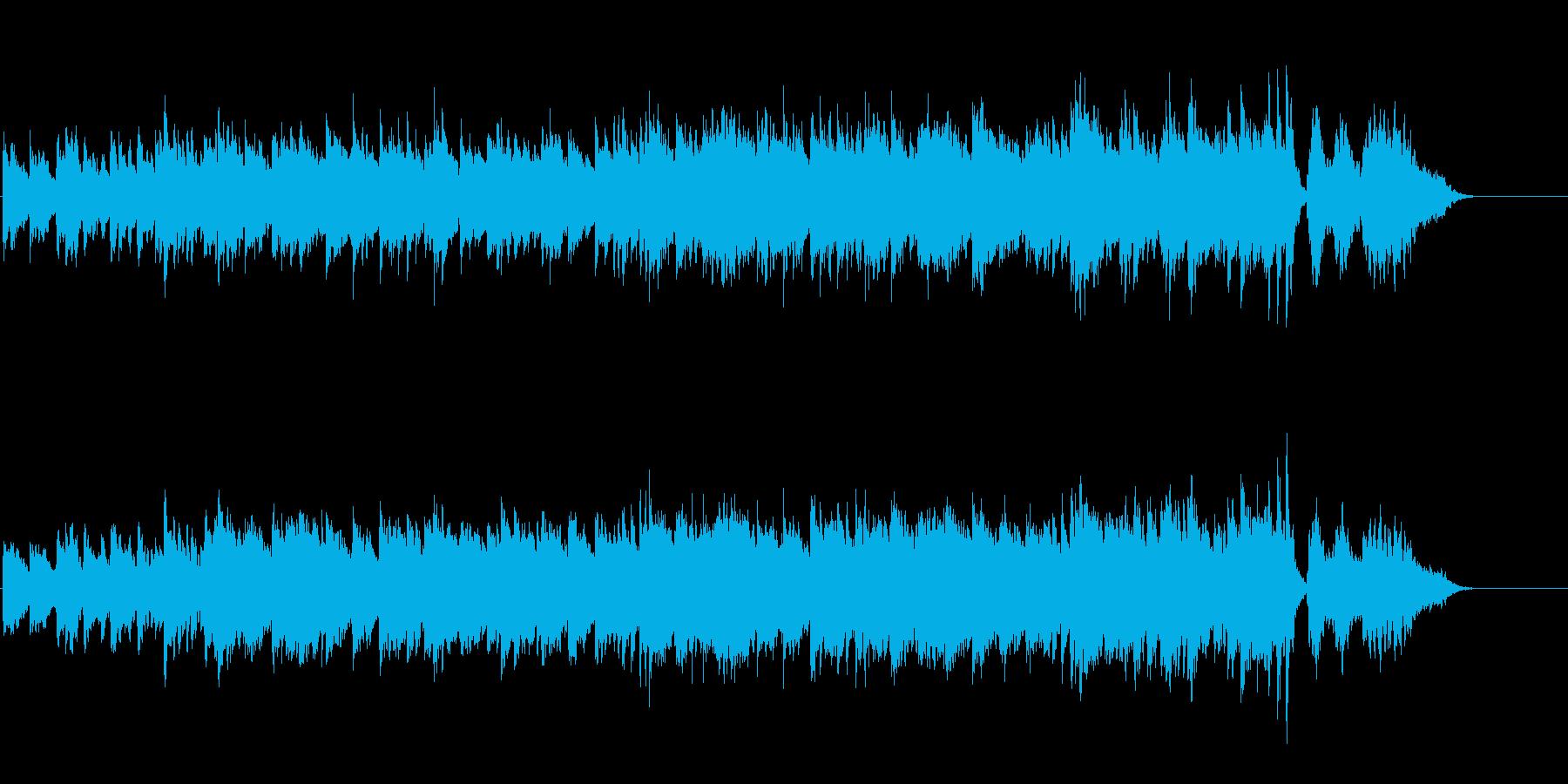ゆったりとした環境音楽風の再生済みの波形