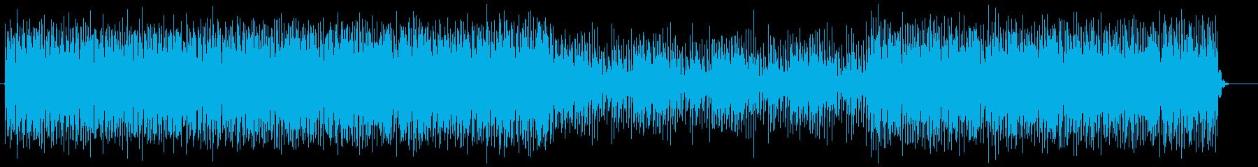 神秘的で近未来的テクノサウンドの再生済みの波形