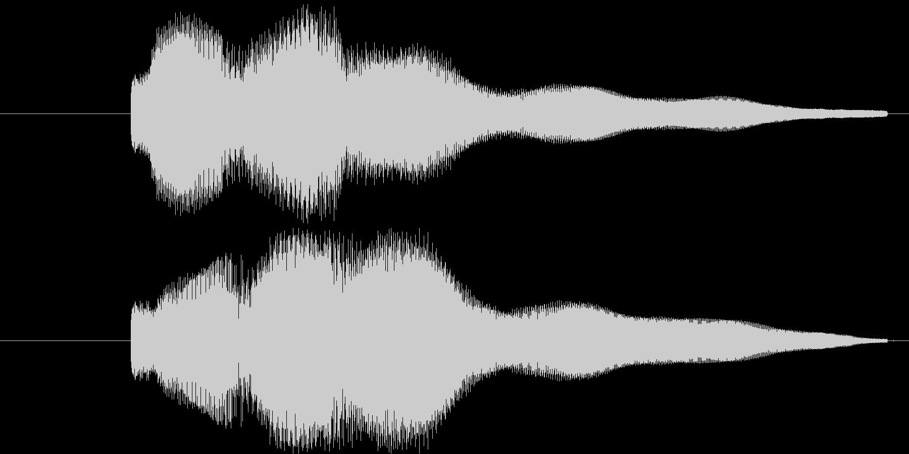 クイズの正解やメニュー画面の決定音 た…の未再生の波形