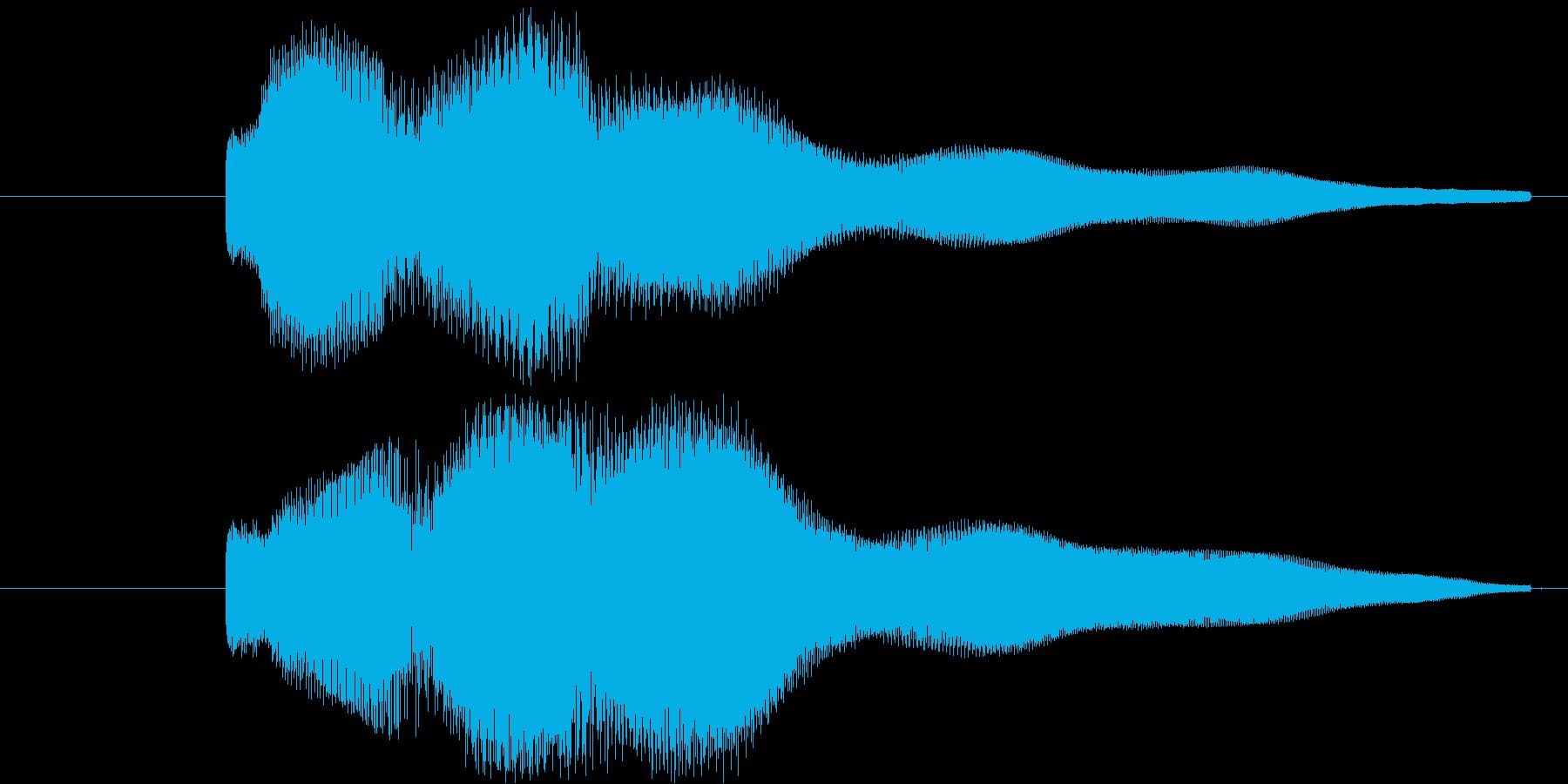 クイズの正解やメニュー画面の決定音 た…の再生済みの波形