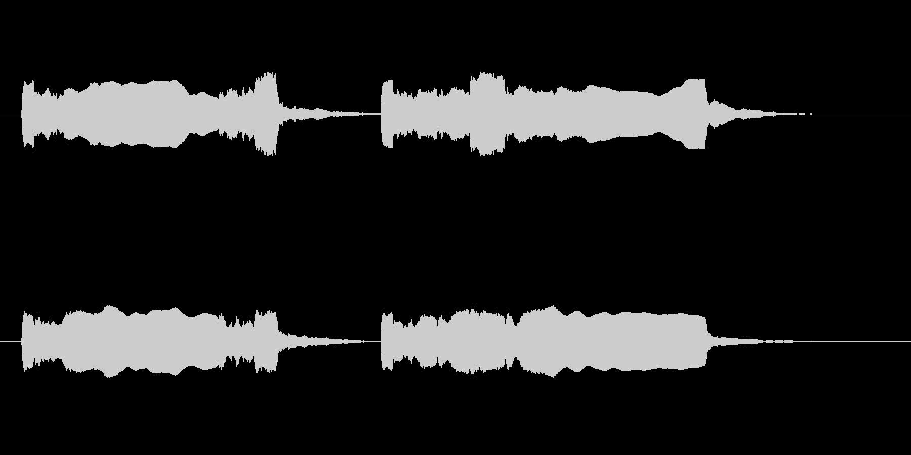 屋台のチャルメラの未再生の波形