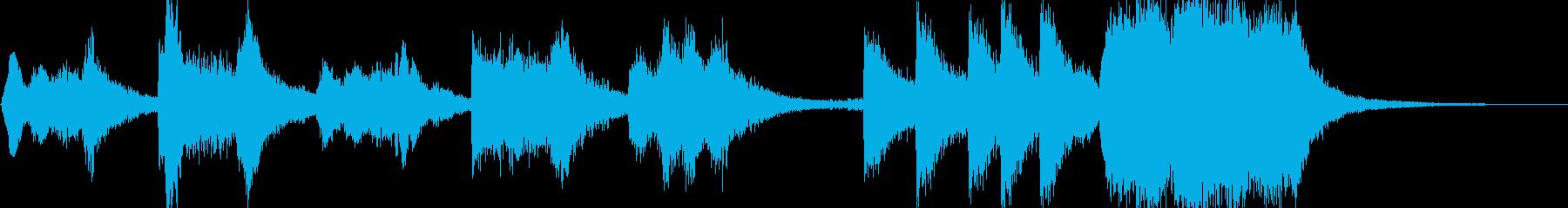 活発なファンファーレの再生済みの波形