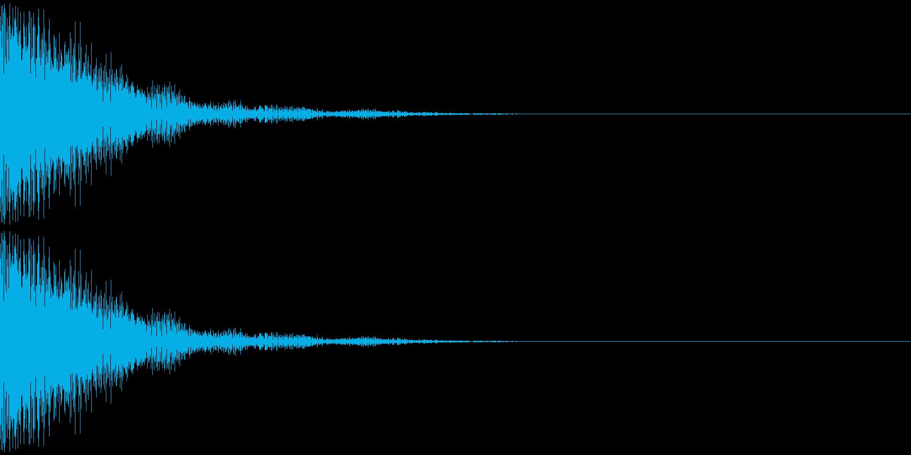 トゥインー(ドラ系)の再生済みの波形