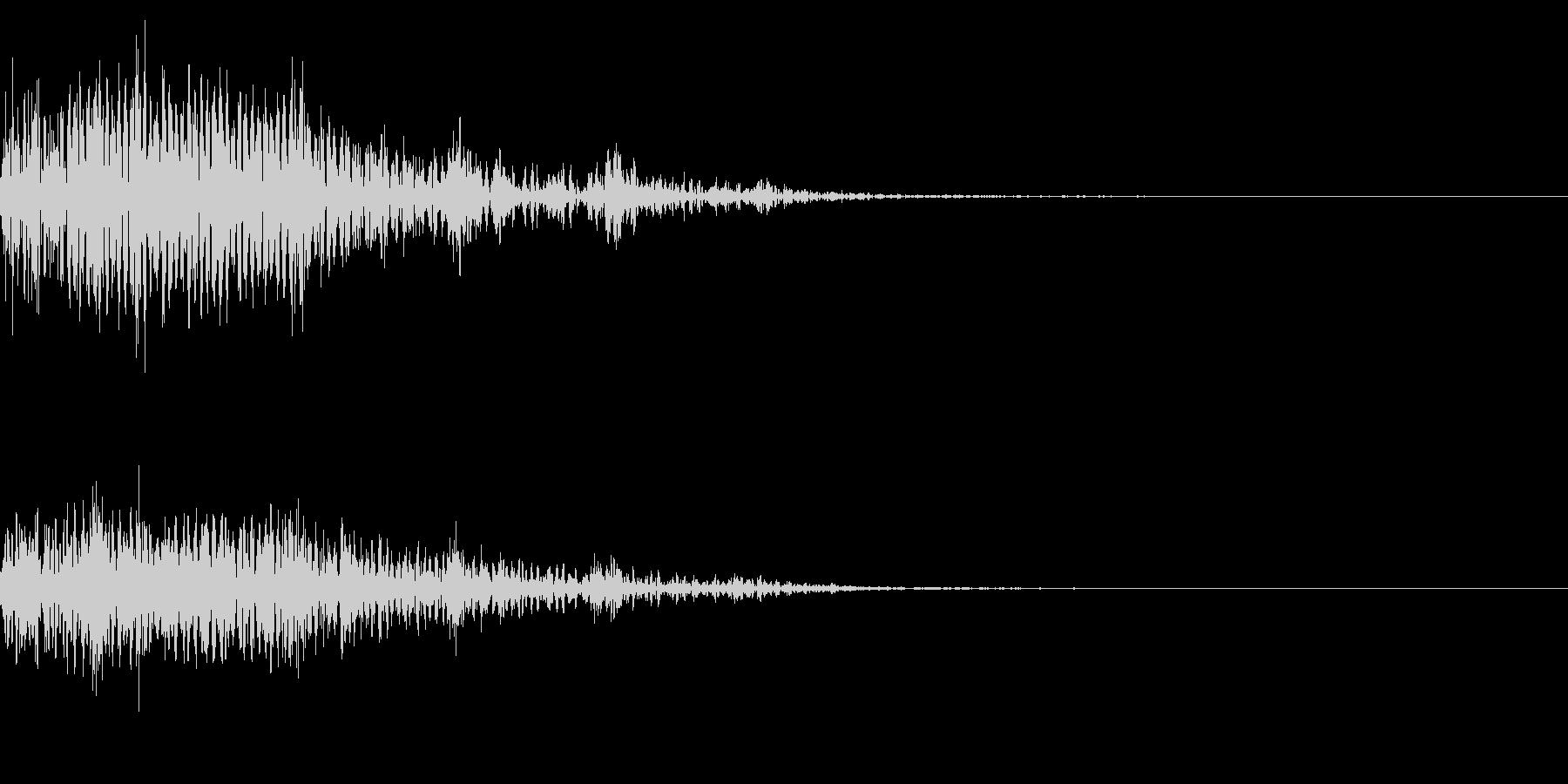 ホラー系アタック音3の未再生の波形