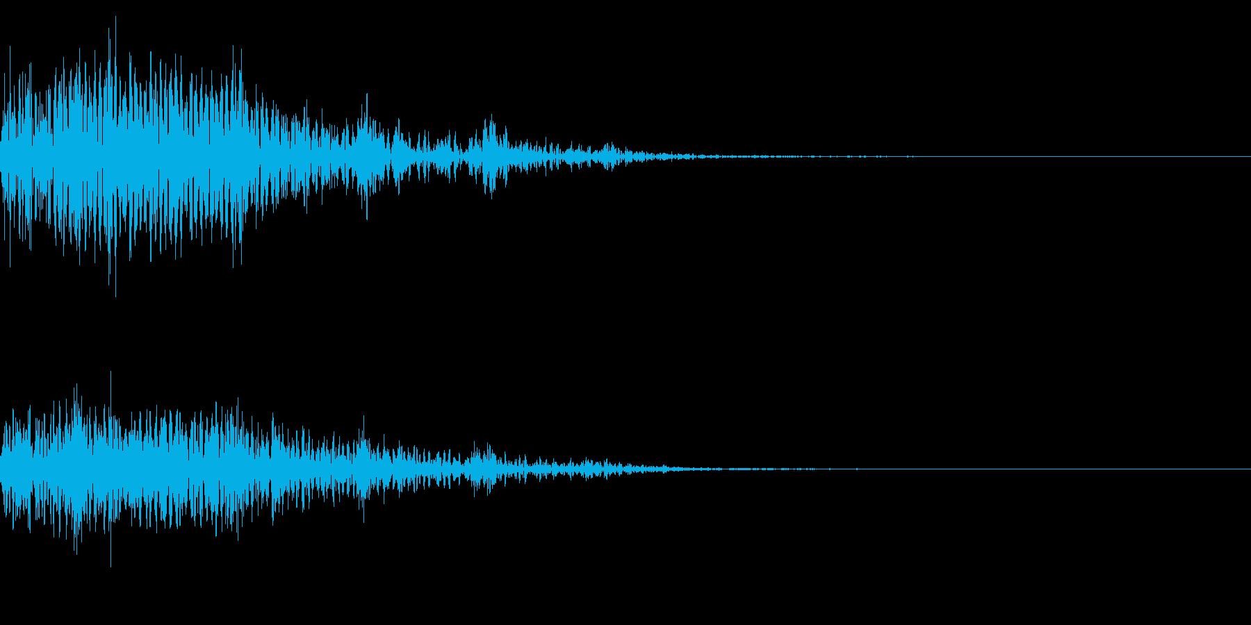 ホラー系アタック音3の再生済みの波形