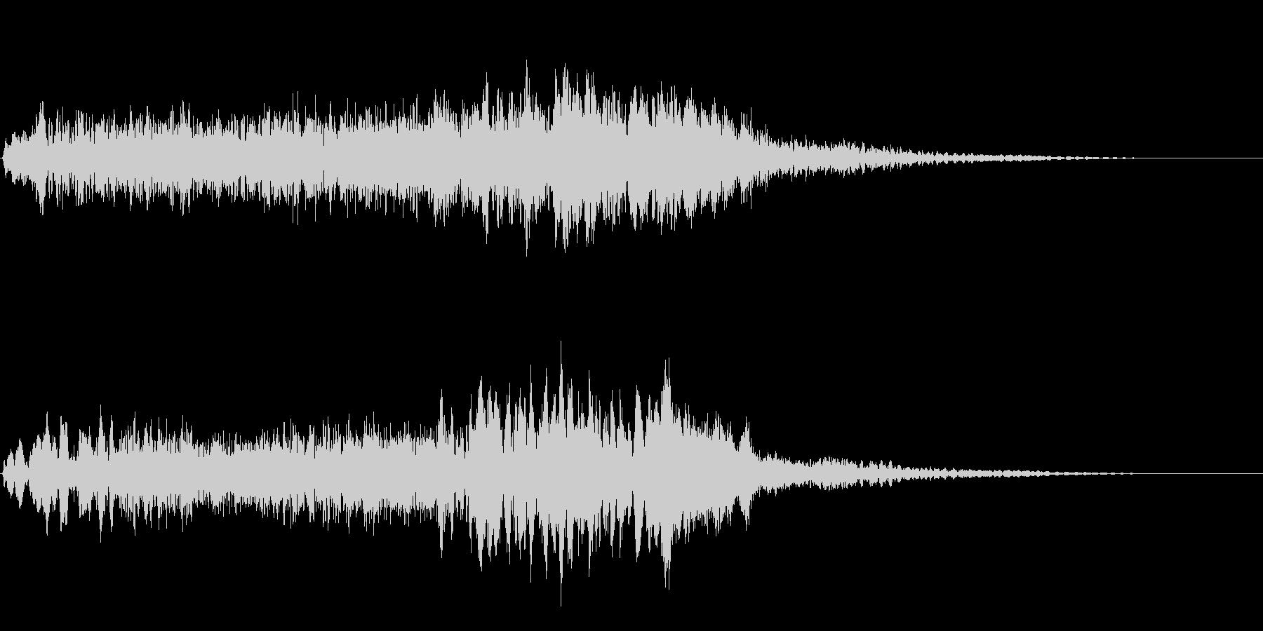 サスペンスに最適!ピアノの弦を弄ぶ音27の未再生の波形