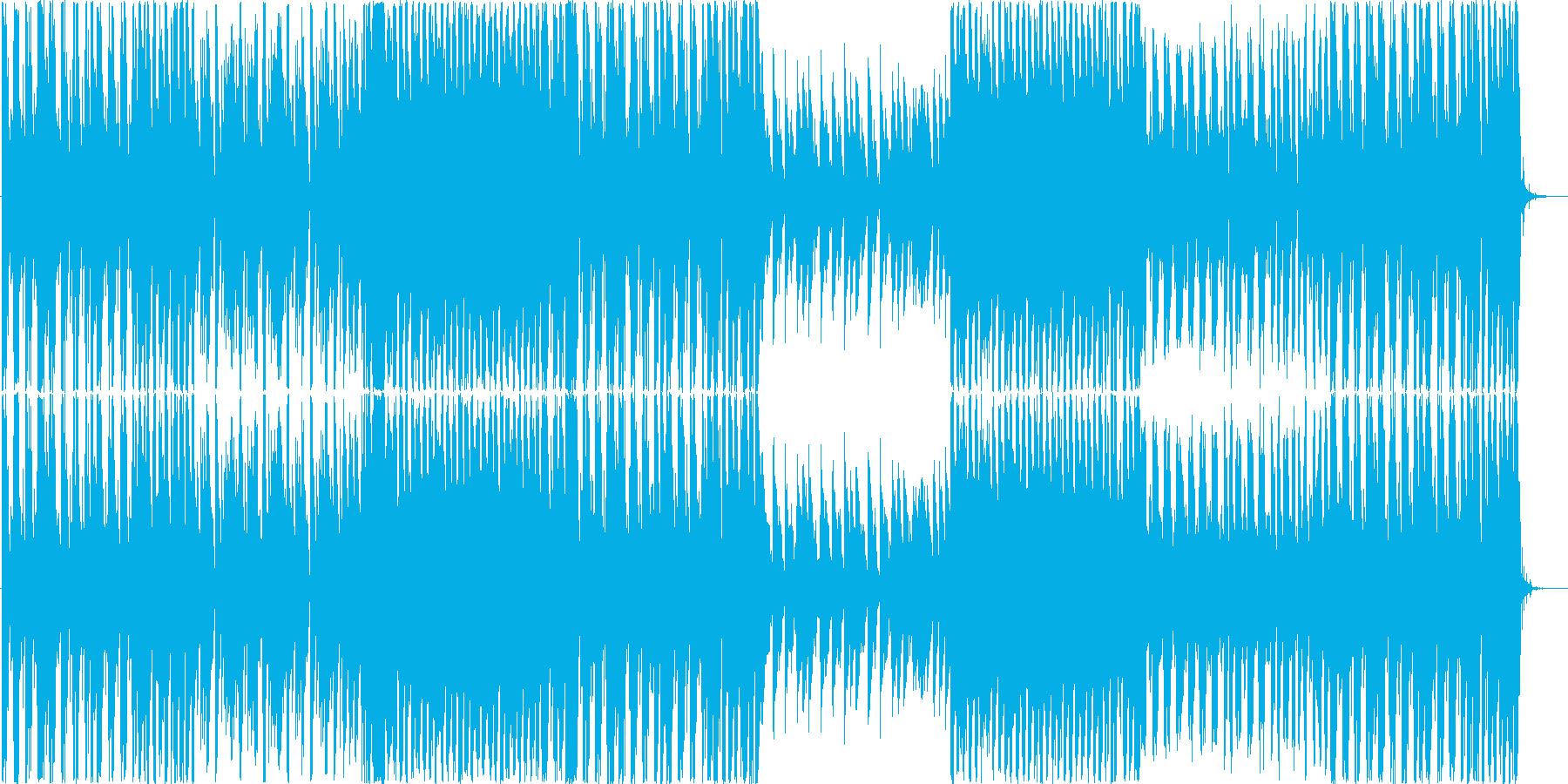 恋のワクワクドキドキをイメージした楽曲…の再生済みの波形