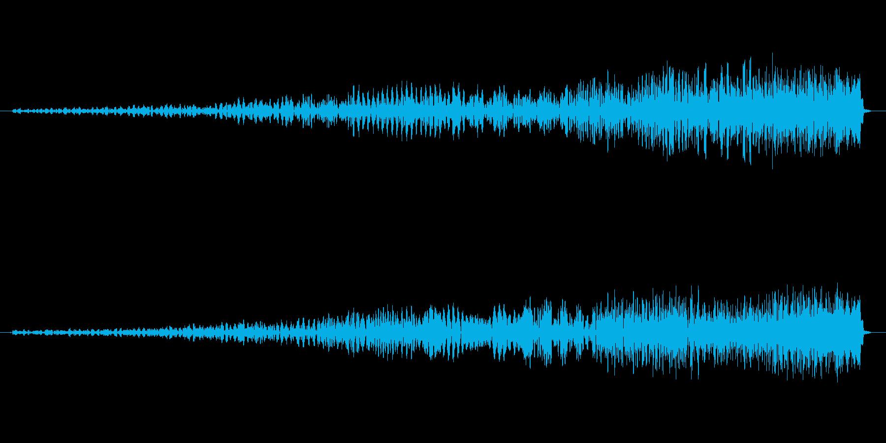 フェードイン・爆発の反転音の再生済みの波形