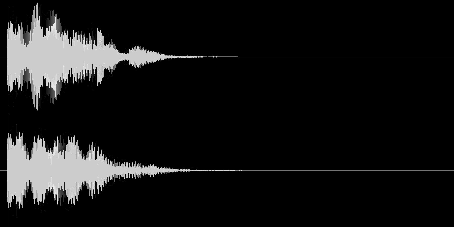 汎用 近未来系04(小) キャンセル音の未再生の波形