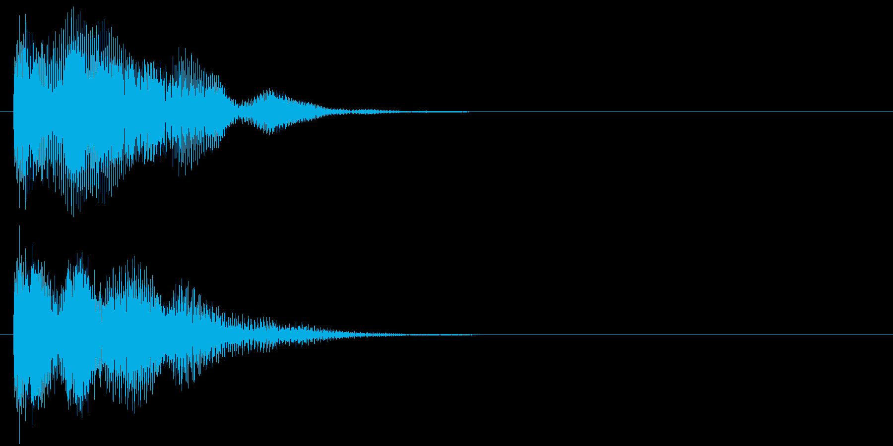 汎用 近未来系04(小) キャンセル音の再生済みの波形