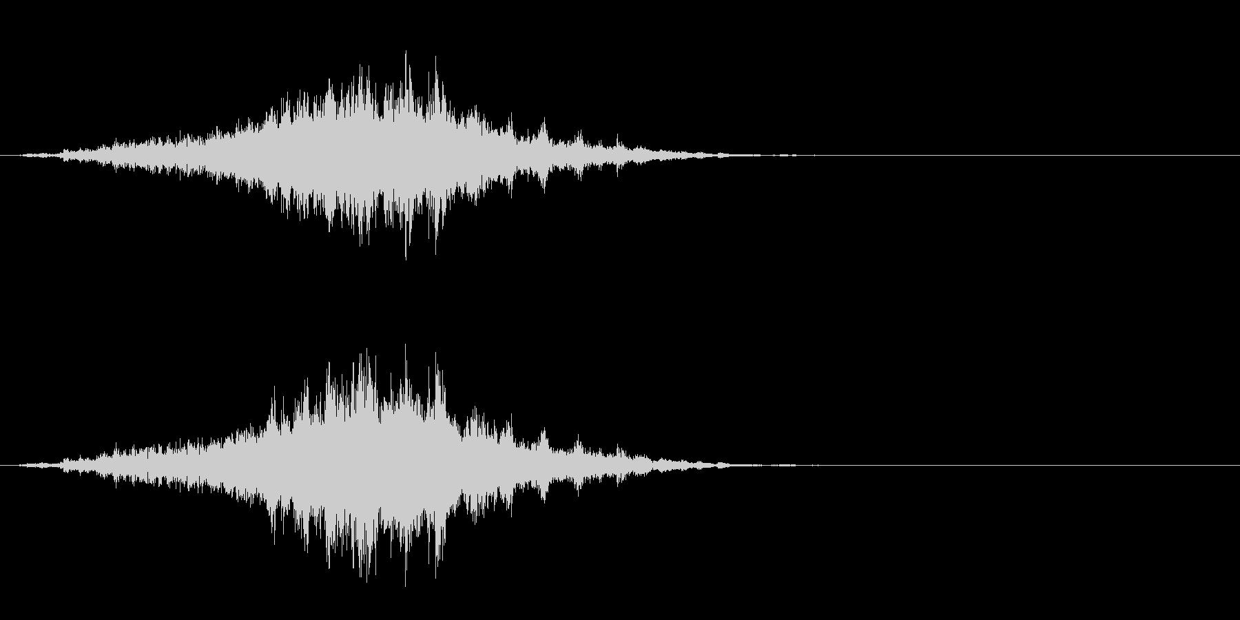 重めの鈴の音「えきろ」のフレーズ音1の未再生の波形
