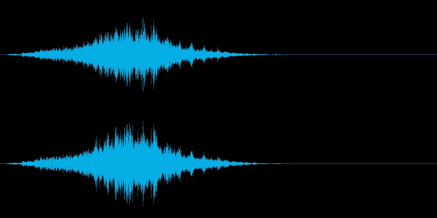 重めの鈴の音「えきろ」のフレーズ音1の再生済みの波形