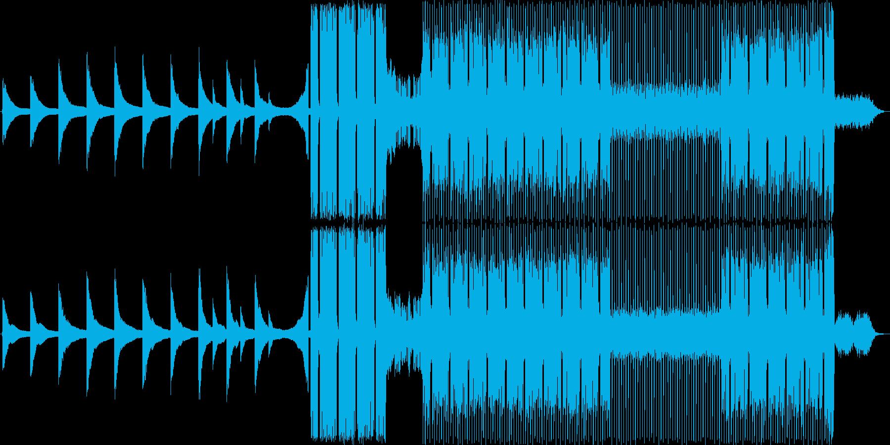 プロレス入場曲風アンビエントロックの再生済みの波形