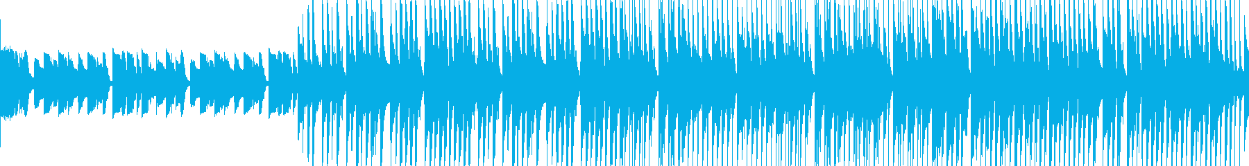 アコースティックなボサノバループ音源の再生済みの波形