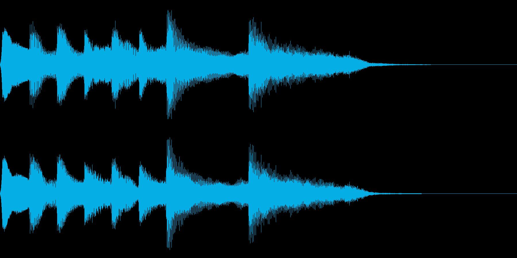 8bit レトロなゲームクリア音 達成の再生済みの波形