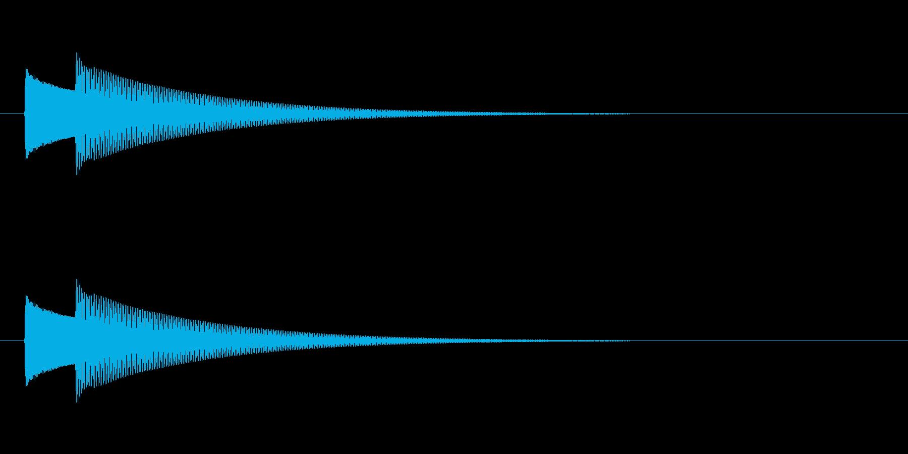 【ドアベル ピンポン02-1】の再生済みの波形