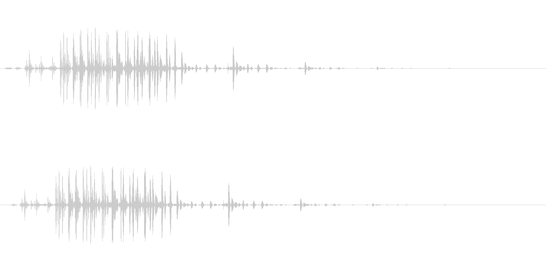 ギュルル(ステータス異常)の未再生の波形