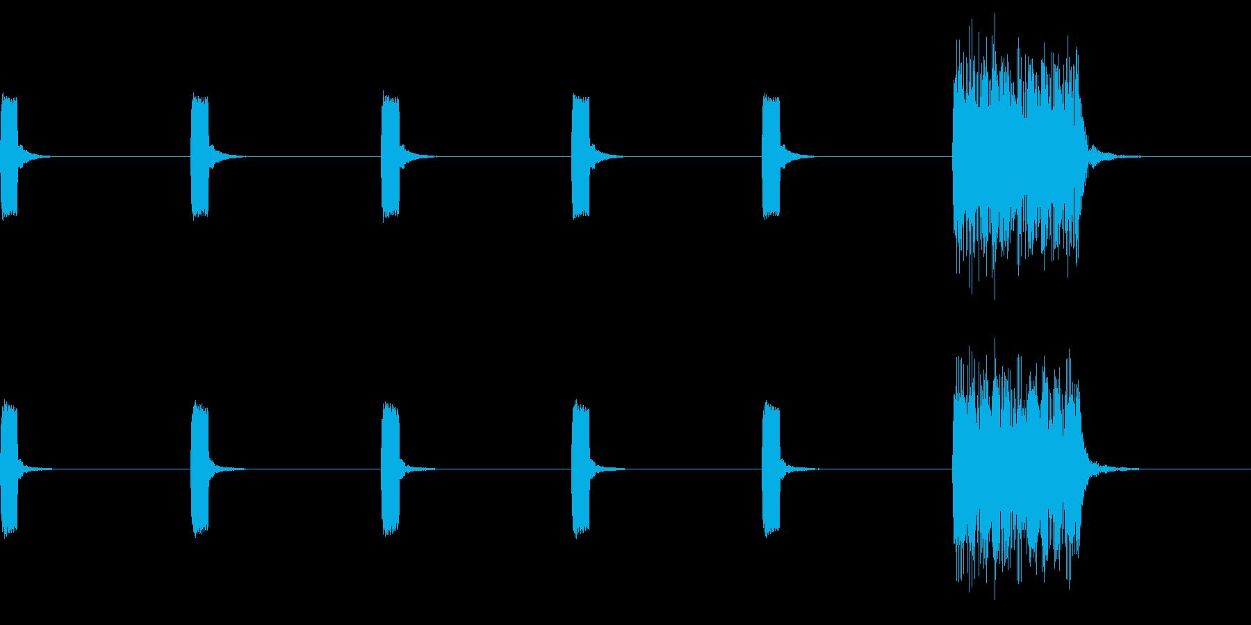 ピッピ(カウントダウン・アラーム・警告)の再生済みの波形