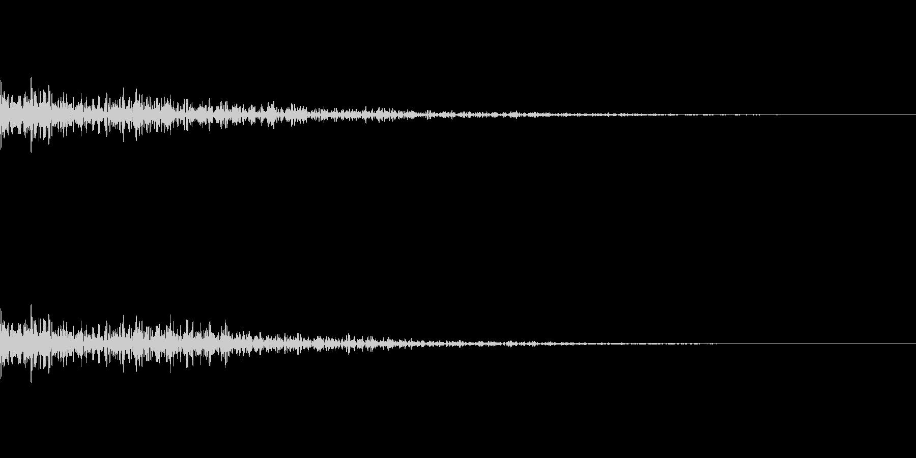 ドスン テロップ 落ちるの未再生の波形