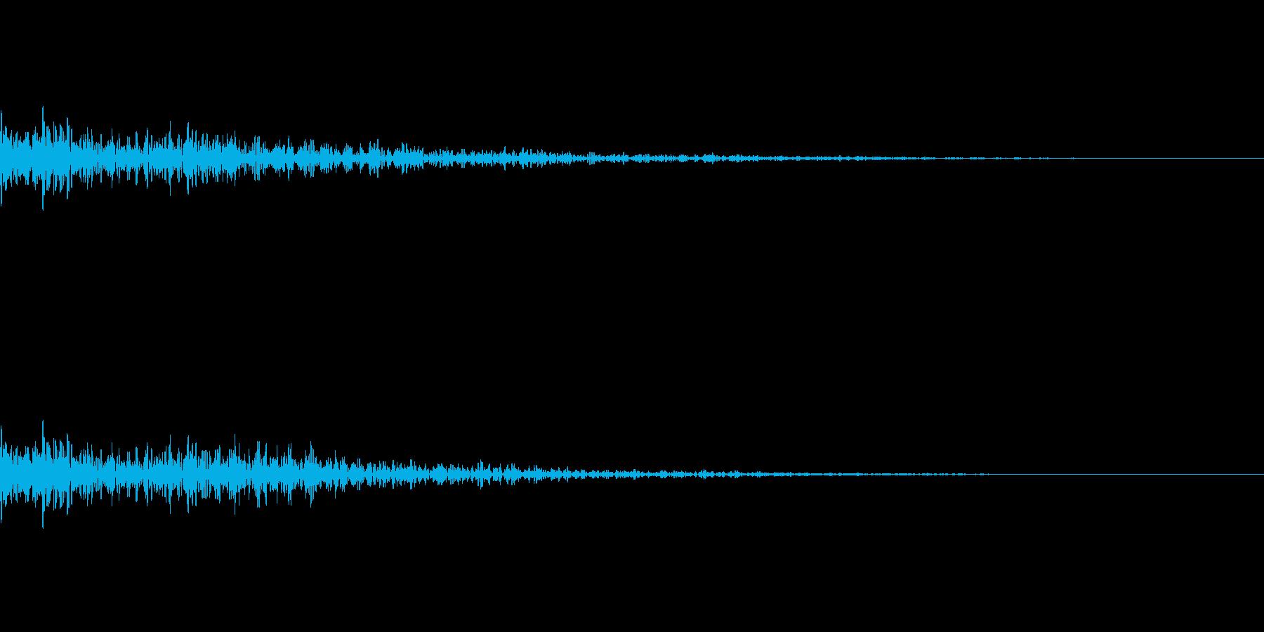 ドスン テロップ 落ちるの再生済みの波形
