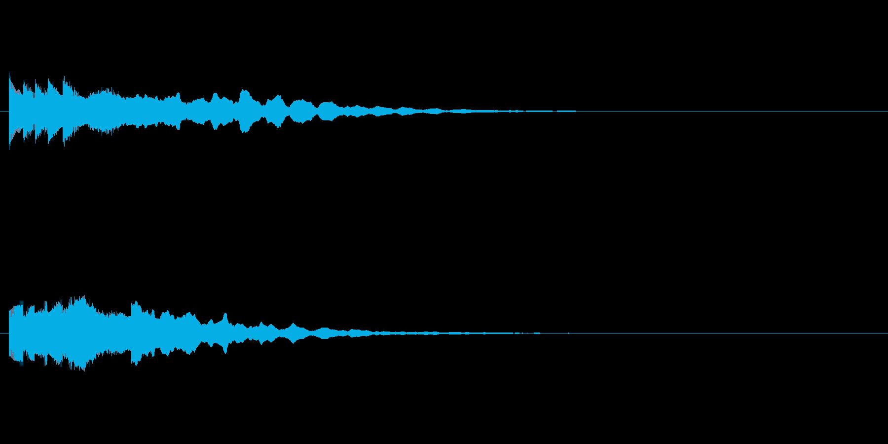 ファミコン的な和風起動音の再生済みの波形