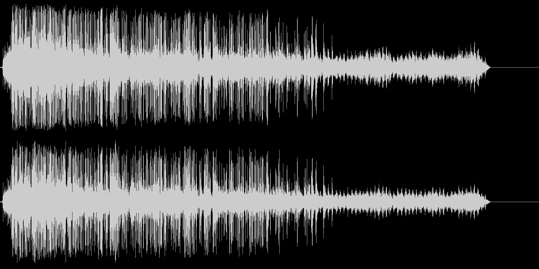 シュレッダー動作音の未再生の波形
