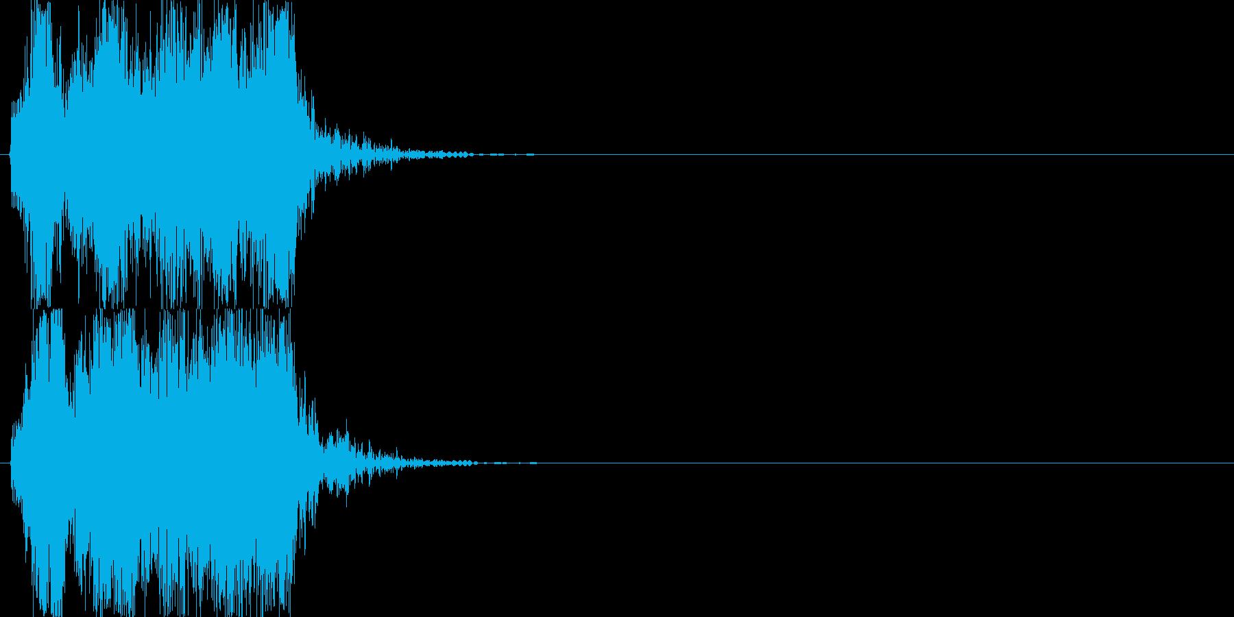 機械音02_シンセの再生済みの波形
