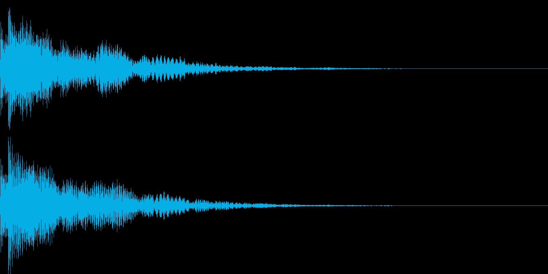 決定音44_シンセBの再生済みの波形