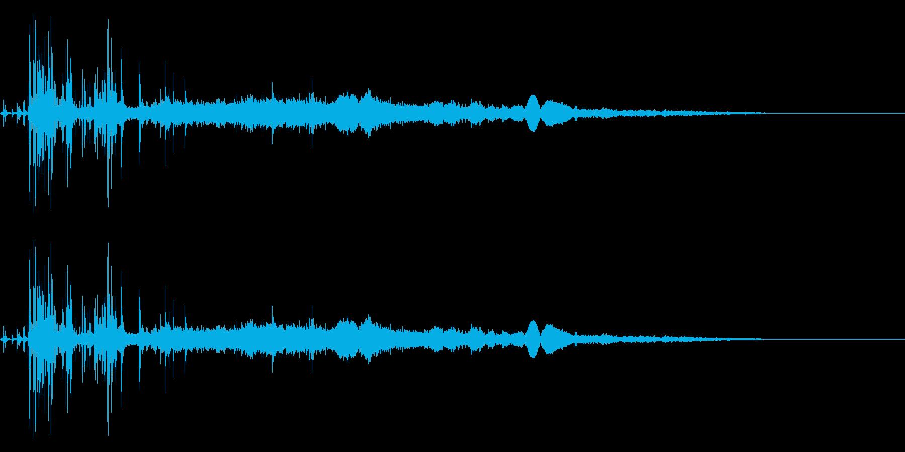 炭酸飲料を注ぐ音の再生済みの波形