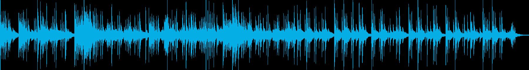 TV企業VP映像にピアノソロレトロの再生済みの波形
