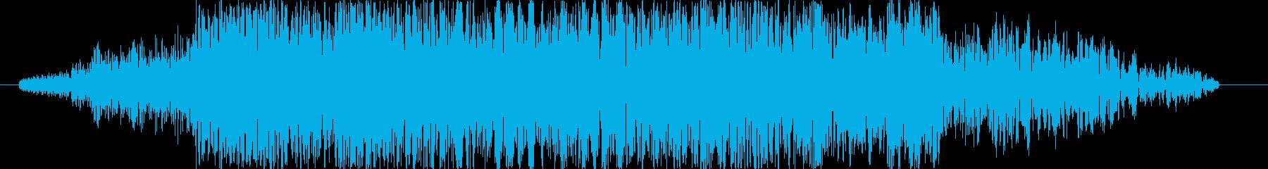 刀や剣の斬撃音 3の再生済みの波形