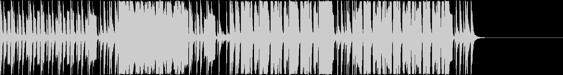ベースリフと華やかなブラスセクションの未再生の波形