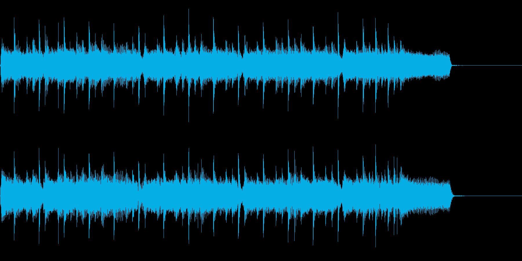 主張しすぎないロック系ジングル・キーDの再生済みの波形