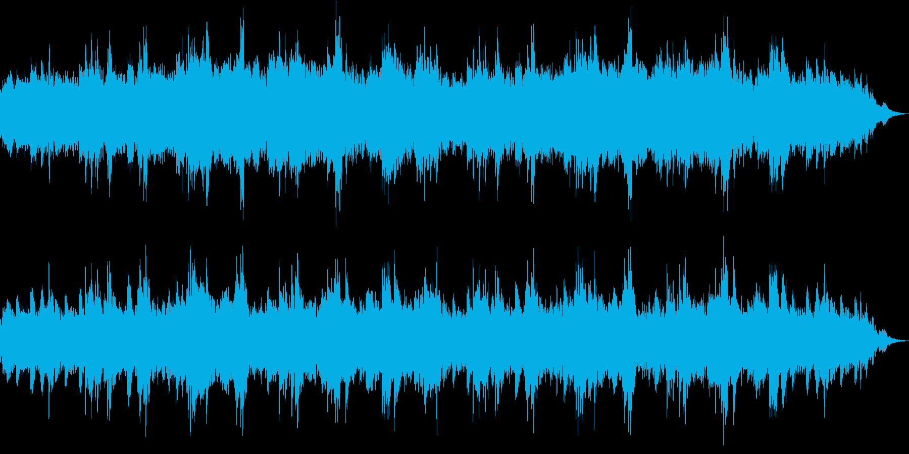 戦争ドキュメントで流れそうなピアノソロ曲の再生済みの波形