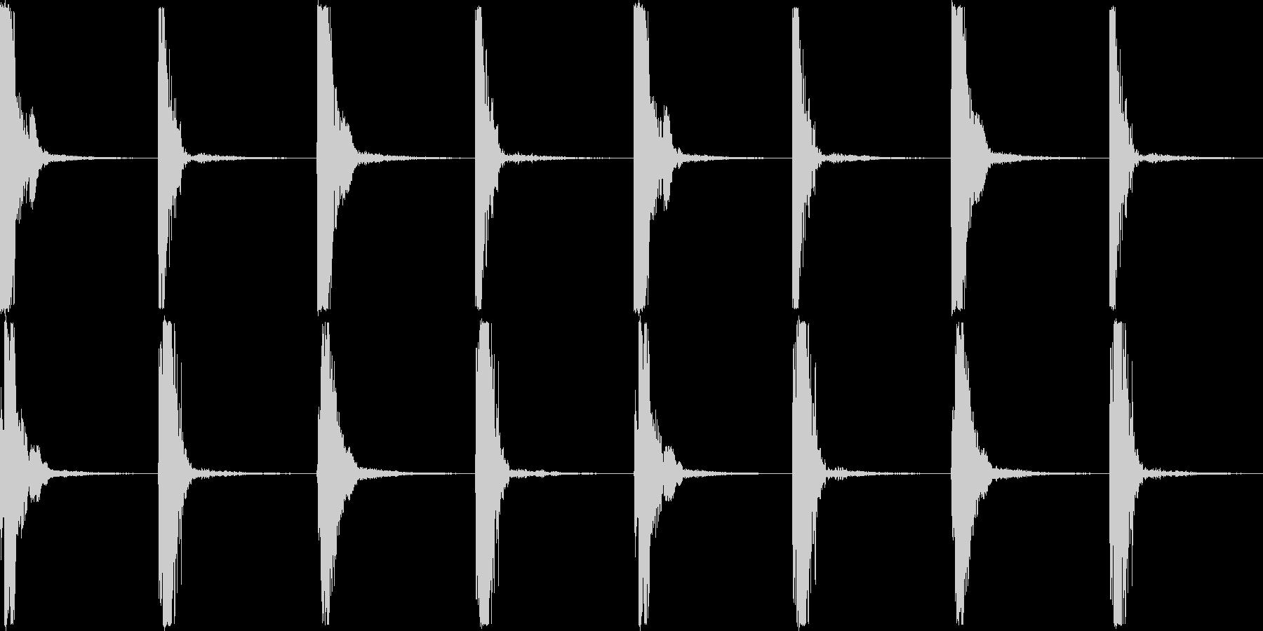 カッチコッチの未再生の波形