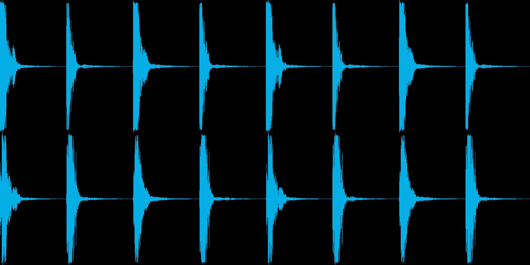 カッチコッチの再生済みの波形