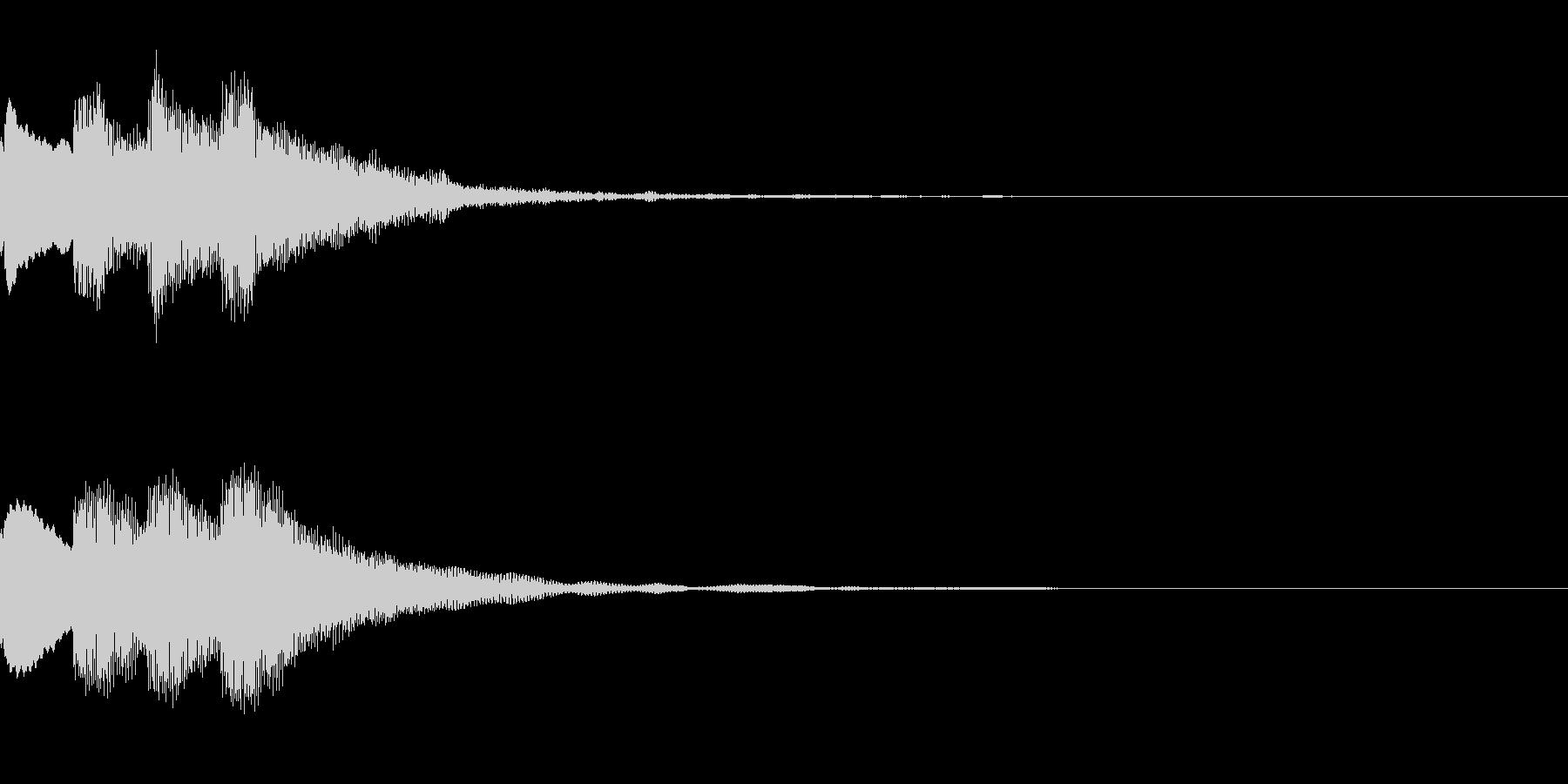 ピンポンピンポン 正解 おとなしめの未再生の波形
