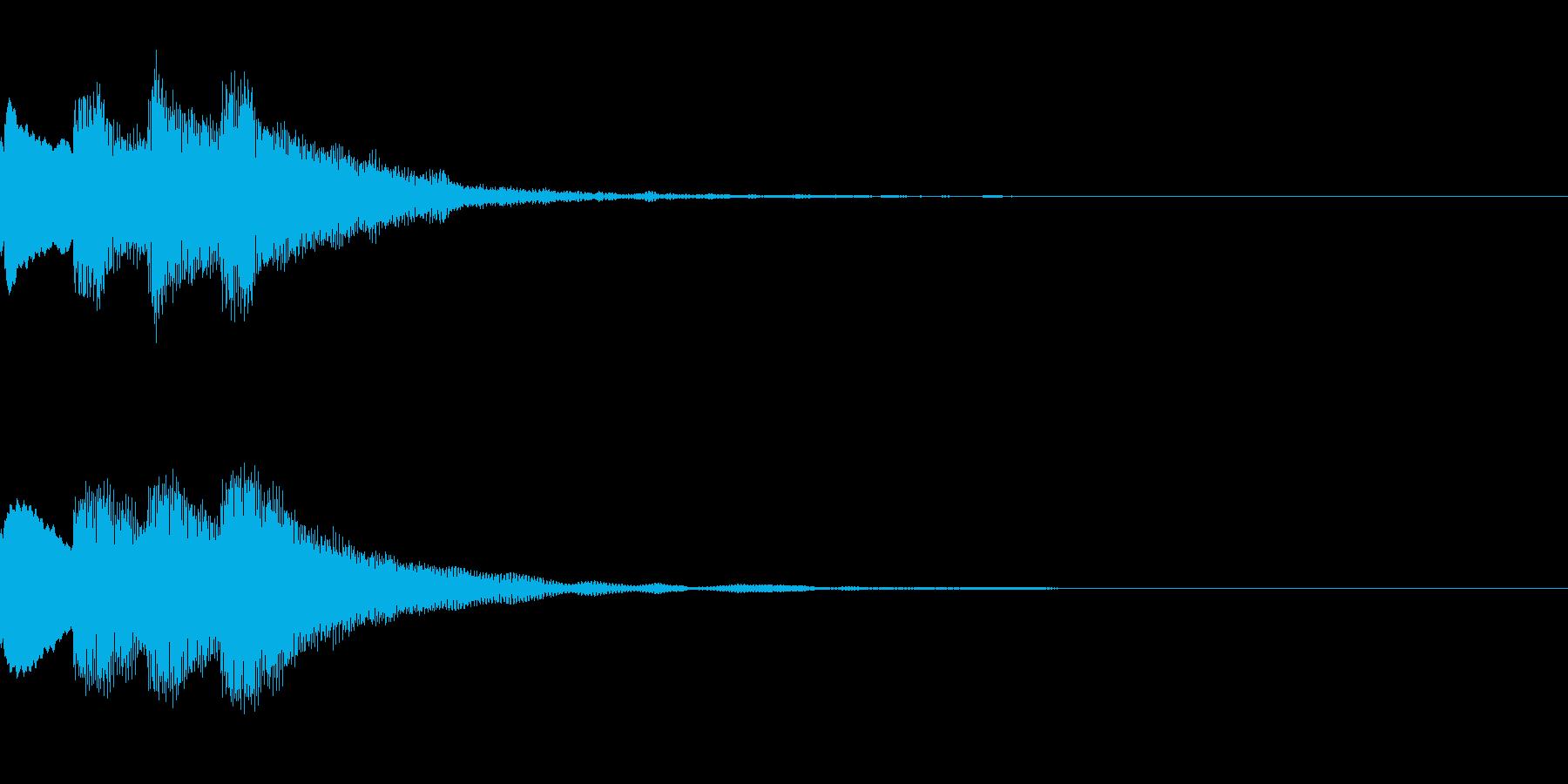 ピンポンピンポン 正解 おとなしめの再生済みの波形